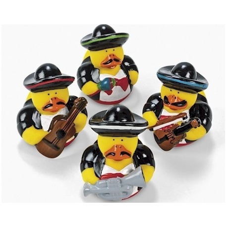 Rubber duck mini mariachi (per 4)  Mini ducks