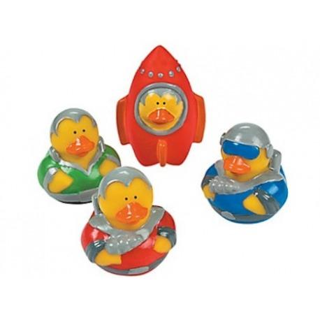 Rubber duck mini astronaut/rocket (per 4)  Mini ducks