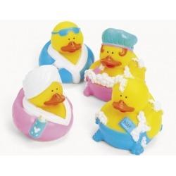 Rubber duck mini bath/shower (per 4)