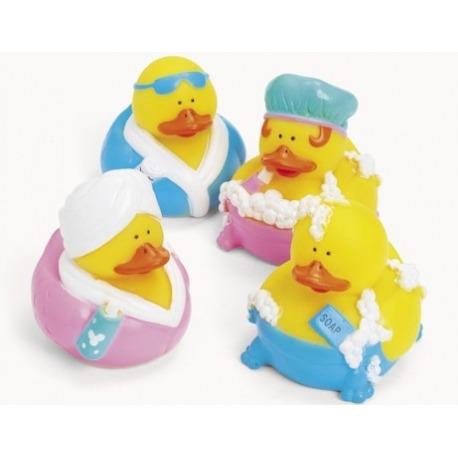 Rubber duck mini bath/shower (per 4)  Mini ducks