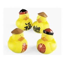 Rubber duck mini China (per 4)  Mini ducks
