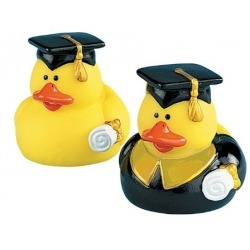 Rubber duck mini graduate (per 2)