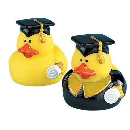 Rubber duck mini graduate (per 2)  Mini ducks