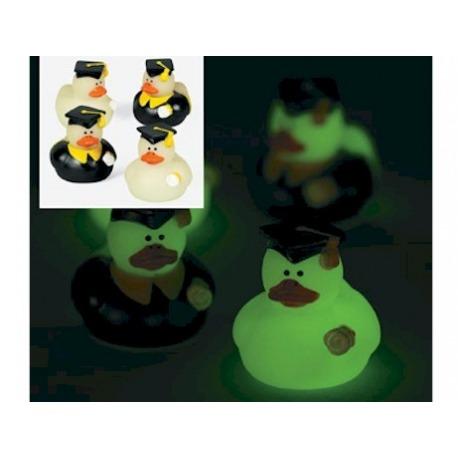 Badeend mini geslaagd glow in the dark (per 2) 4 cm  Mini eendjes
