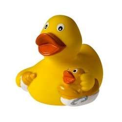 Rubber duck mama with baby  More ducks