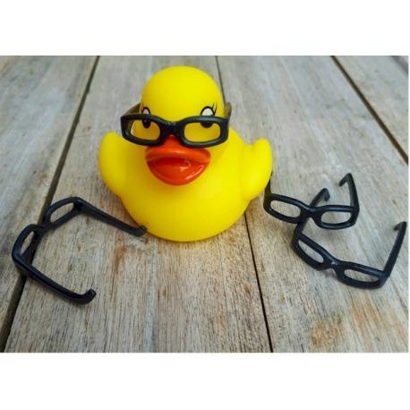 Bril zwart S voor badeend mini  Overig
