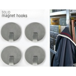 Magnet hook super strong silver (per 4)  Magnets
