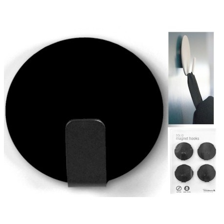 Magnet hook super strong black (per 4)  Magnets