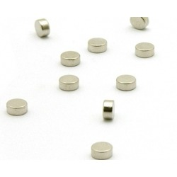 Supersterke mini magneetjes plat set van 10 zilver