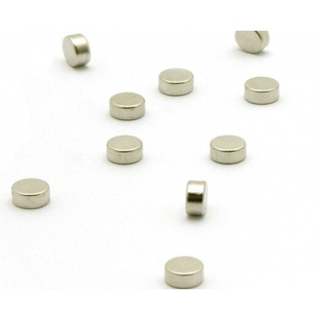 Super strong mini magnets set of 10 flat silver  Magnets