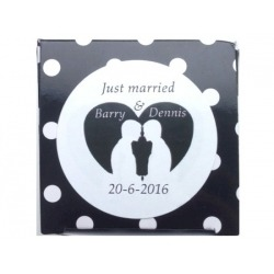 Sticker just married grooms (24 stuks)