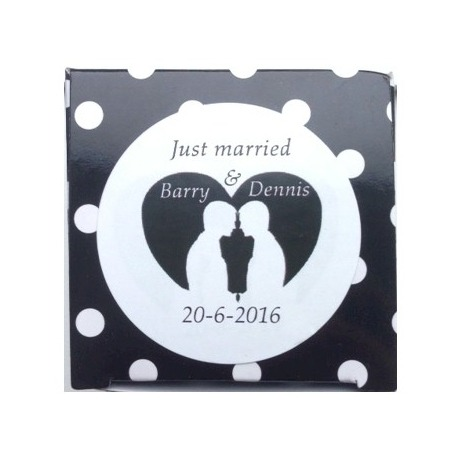 Sticker just married grooms (24 stuks)  Stickers