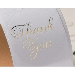 Sticker rol Thank You goud  Stickers