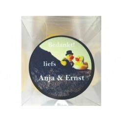 Sticker bruidspaar badeendjes (24 stuks)