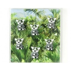 Mini fridge magnets lemur color