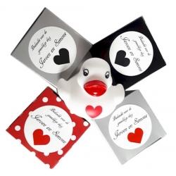 Sticker Bedankt voor de gezellige dag zwart hart (24 stuks)  Stickers