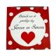 Badeendje hart rood B  Huwelijks bedankjes