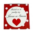 Sticker Bedankt voor de gezellige dag red heart  (24 pieces)