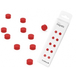 Supersterke mini magneetjes set van 10 rood