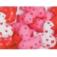 Rubber duck mini hearts 4 cm (bag of 24 pieces)  Mini ducks