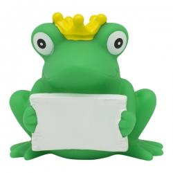 Frosch mit Gruss-Schild LILALU  Lilalu