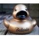 Rubber duck BEDANKT B goud / bronze  Ducks with text