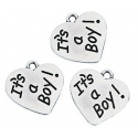 It's a Boy Charms (12 pieces)
