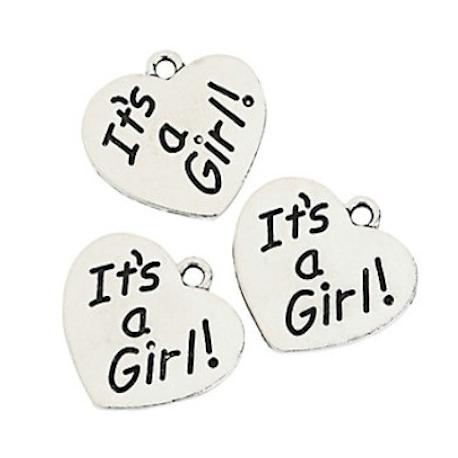 It's a Girl bedeltje (12 stuks)  Geboorte bedankjes