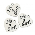 It's a Girl Charms (12 pieces)