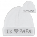 Baby hat I love Papa or I love Mama