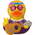 Rubber duck Hippie woman LILALU