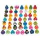 Set van 600 verschillende badeendjes  Mini eendjes