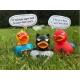 Rubber duck Dark Duck Hero grey LILALU  Lilalu