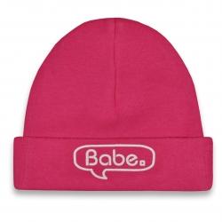 Baby hat pink Babe  Babyshower gift