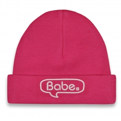 Babymuts roze Babe  Pullerparty gift