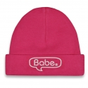 Baby hat pink Babe