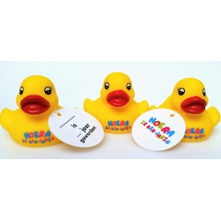 Rubber duck HOERA IK BEN JARIG  Ducks with text
