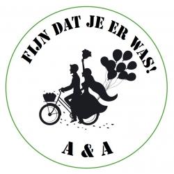 Aufkleber Hochzeitspaar Fahrrad (Pro 24)  Aufklebers