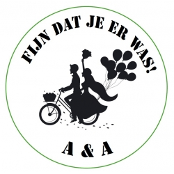 Sticker wedding couple bike (24 stuks)  Stickers