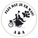 Aufkleber Hochzeitspaar Fahrrad  (Pro 24)