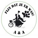 Sticker wedding couple bike (24 stuks)