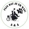 Sticker bruidspaar fiets (24 stuks)