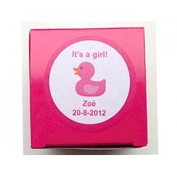 Sticker It´s a girl eendje (24 stuks)  Stickers