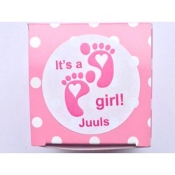 Aufkleber It´s a girl Baby-Füße (Pro 24)