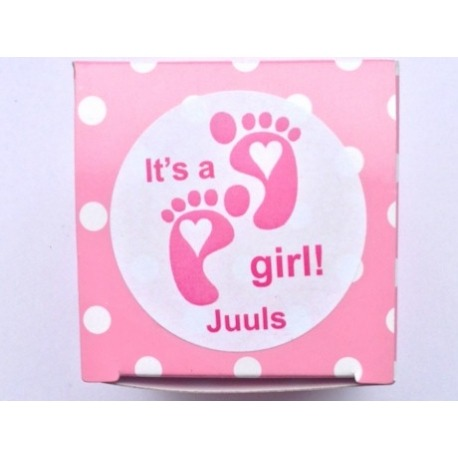 Sticker It´s a girl baby voetjes (24 stuks)  Stickers