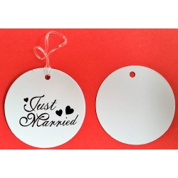 JUST MARRIED etikett  Hochzeit geschenke