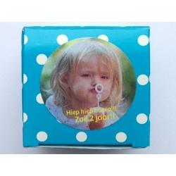 Sticker met eigen foto (24 stuks)
