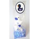 Mini Delftblauwe badeendjes in bijpassend kadozakje