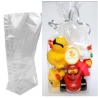 Transparant plastic bag with block bottom