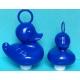 Ente mit Haken groß blau  Kermisenten